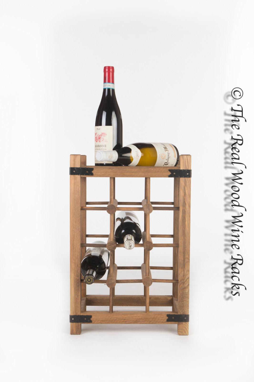New Real Wooden Rustic Wine Rack / Cabinet, 12 Bottles ...